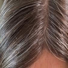 The color of white hair
